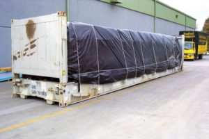plastic cover for container